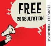 megaphone hand business concept ... | Shutterstock .eps vector #564726484