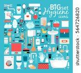 great set for hygiene   Shutterstock .eps vector #564726820