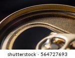 aluminium can macro picture  | Shutterstock . vector #564727693