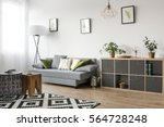 bright living room interior... | Shutterstock . vector #564728248