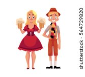 young man and woman in... | Shutterstock .eps vector #564729820
