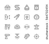 set line icons of electricity | Shutterstock .eps vector #564732454