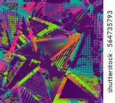 abstract urban seamless pattern.... | Shutterstock . vector #564735793