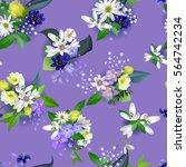 spring background flowers... | Shutterstock .eps vector #564742234