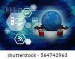 3d rendering computer network | Shutterstock . vector #564742963