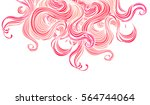 vector pink abstract hand drawn ... | Shutterstock .eps vector #564744064
