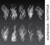 smoke set isolated on... | Shutterstock .eps vector #564749518