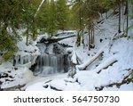 Scenic waterfall in Michigan