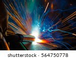 welder  craftsman  erecting... | Shutterstock . vector #564750778