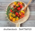 Yellow And Red Cherry Tomatoes...