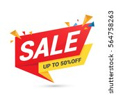 sale banner template design | Shutterstock .eps vector #564758263