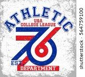 athletic department vector t... | Shutterstock .eps vector #564759100
