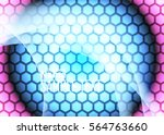 color abstract template for... | Shutterstock .eps vector #564763660