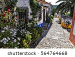 streets of obidos. portugal.... | Shutterstock . vector #564764668