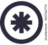 asterisk vector icon