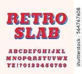 rough vintage slab serif... | Shutterstock .eps vector #564767608