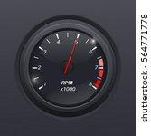 tachometer. black gauge....   Shutterstock .eps vector #564771778