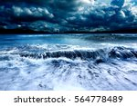 ocean and sea storm.cloudy sky... | Shutterstock . vector #564778489