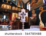 Orthodox Cross In Front Of...