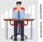 young and handsome businessman... | Shutterstock .eps vector #564789499
