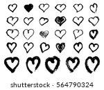 vector hand painted ink... | Shutterstock .eps vector #564790324