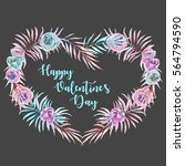 illustration  wreath with... | Shutterstock . vector #564794590