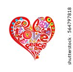 hippie print with abstract... | Shutterstock .eps vector #564797818