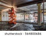 manual workers welding at... | Shutterstock . vector #564800686