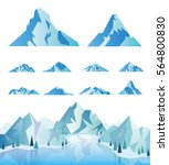 mountain landscape with... | Shutterstock .eps vector #564800830