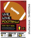 live. love. football.  flat... | Shutterstock .eps vector #564803566