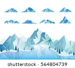 mountain icons or logotypes.... | Shutterstock .eps vector #564804739