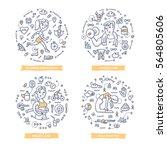 doodle vector concepts of... | Shutterstock .eps vector #564805606
