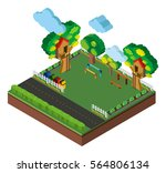 3d design for playground and... | Shutterstock .eps vector #564806134