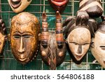colourful african masks for... | Shutterstock . vector #564806188