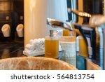 liquid soap bottle on the... | Shutterstock . vector #564813754