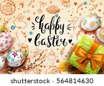 template vector card with... | Shutterstock .eps vector #564814630