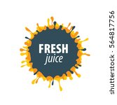 juice splash vector sign | Shutterstock .eps vector #564817756