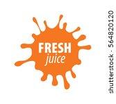 juice splash vector sign | Shutterstock .eps vector #564820120