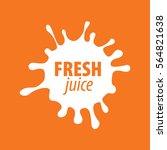 juice splash vector sign | Shutterstock .eps vector #564821638