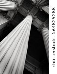 columns on museum or courthouse ...   Shutterstock . vector #564829288