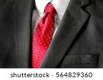business suit white shirt and... | Shutterstock . vector #564829360