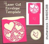 wedding invitation or greeting...   Shutterstock .eps vector #564835288
