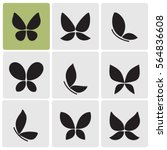 butterflies icons | Shutterstock .eps vector #564836608