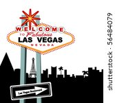 welcome to las vegas sign  city ... | Shutterstock .eps vector #56484079