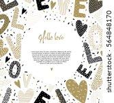 romantic concept. background... | Shutterstock .eps vector #564848170