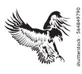 eagle emblem isolated on white... | Shutterstock .eps vector #564849790