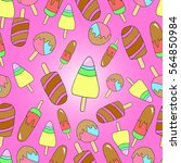 pattern of ice creams. ice... | Shutterstock .eps vector #564850984