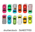 multicolor cars isolated on... | Shutterstock . vector #564857950