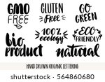 hand drawn eco friendly... | Shutterstock .eps vector #564860680