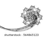 floral style textured line... | Shutterstock . vector #564865123